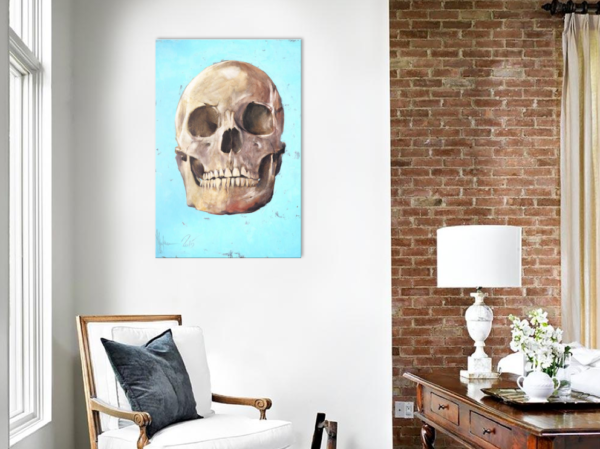The Skull by Igor Shulman in the room