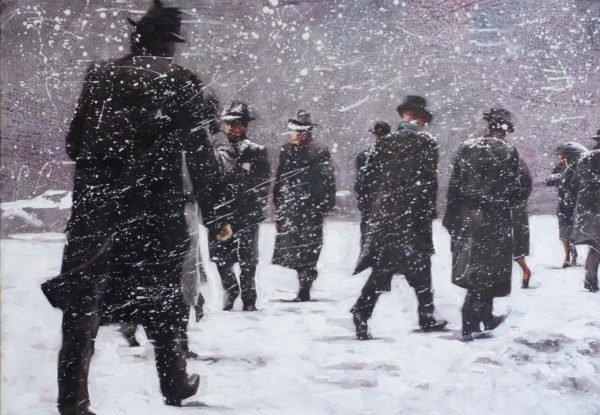 Winter NY original painting by Igor Shulman