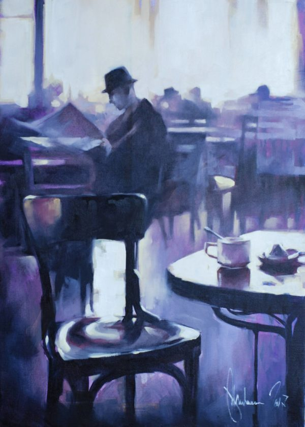 Morning Newspaper original painting by Igor Shulman