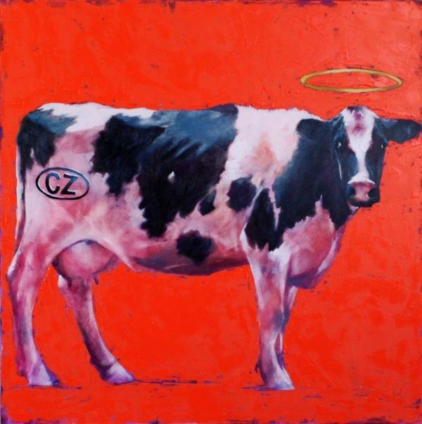My Cow original painting by Igor Shulman