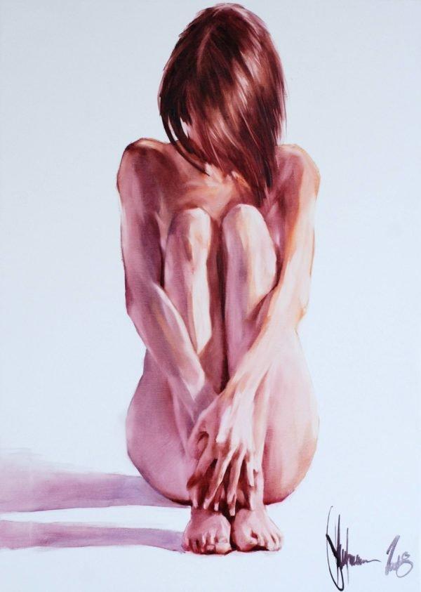 Modesty original painting by Igor Shulman