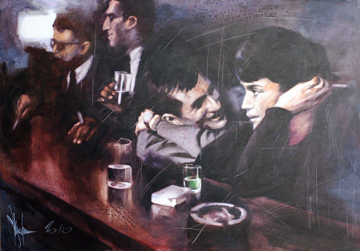Bar Tales painting by Igor Shulman