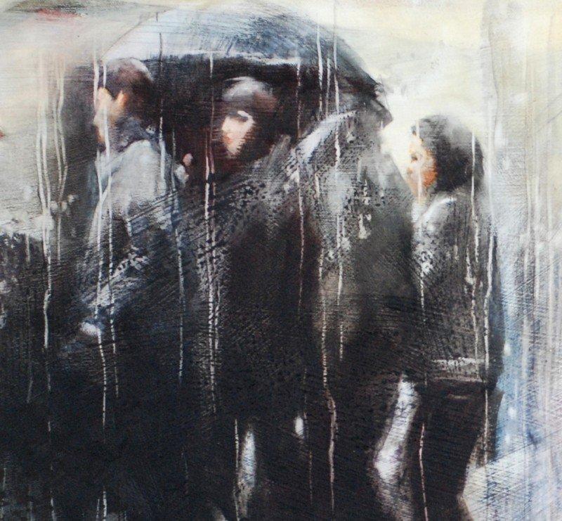 Rainy painting by Igor Shulman