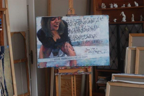 Painting Listening to shakespear artgallery