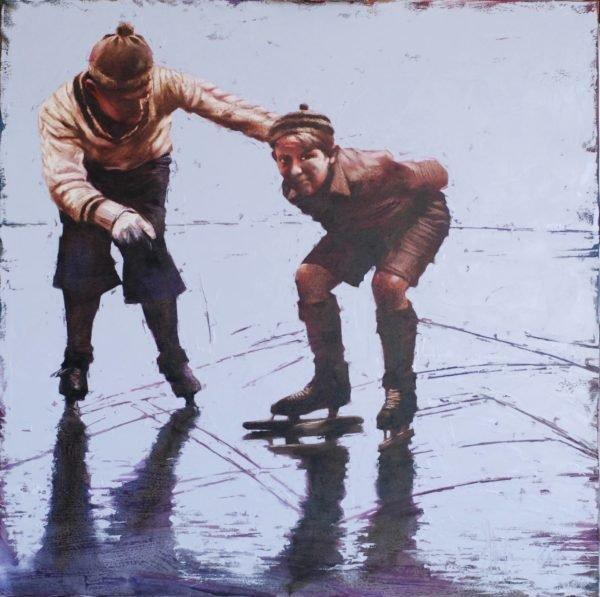 December. The first ice original painting by Igor Shulman