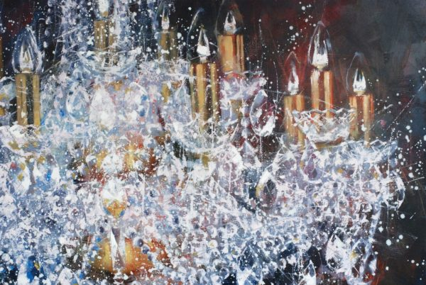 Large cristal chandelier. 4 try artwork by Igor Shulman #shulmanart