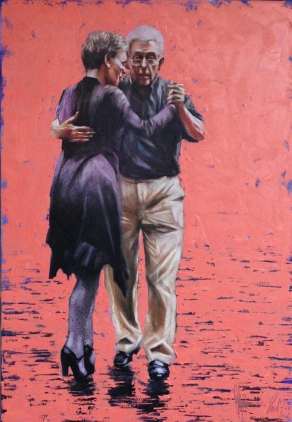 Last tango original painting by Igor Shulman