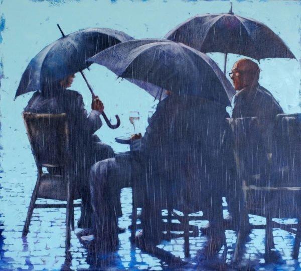 October Milan painting by Igor Shulman
