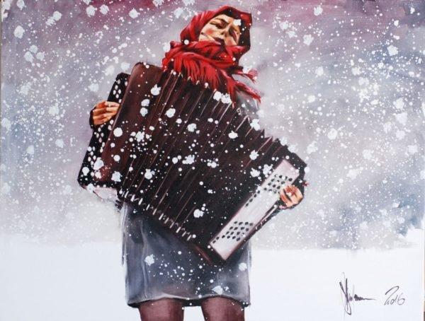 Winter original painting by Igor Shulman