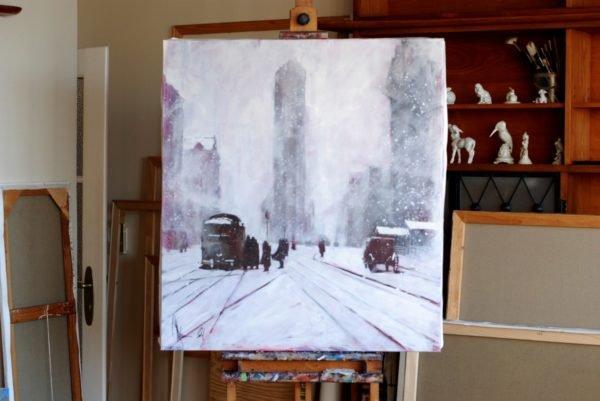 Winter. Retro artwork by Igor Shulman #igorshulman