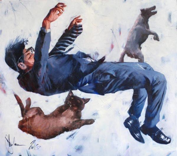 Gravitation #2 original painting by Igor Shulman