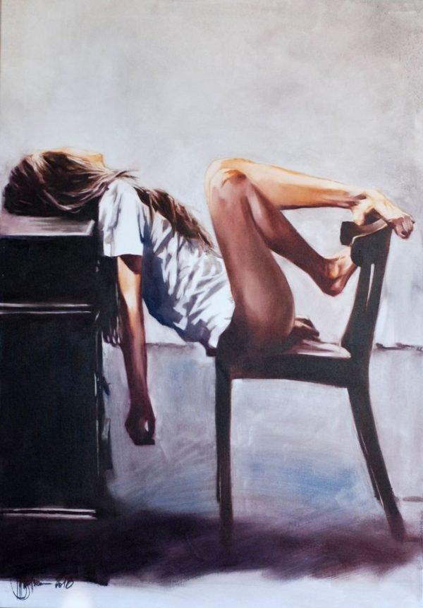 Lazy morning original painting by Igor Shulman