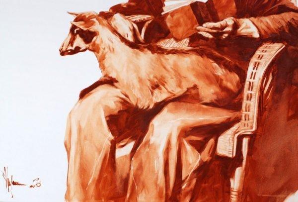 Old man with a goat artwork by Igor Shulman #art