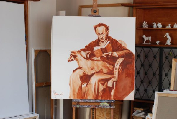 Old man with a goat artwork by Igor Shulman #artist
