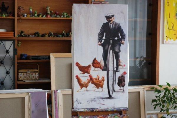 Retro pastoral artwork by Igor Shulman #artgallery