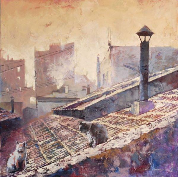 Roman morning original painting by Igor Shulman