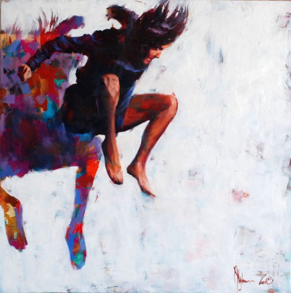 Leap to nowhere (WS-5) original painting by Igor Shulman