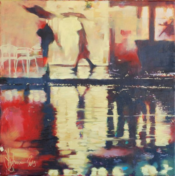 Winter rain original painting by Igor Shulman