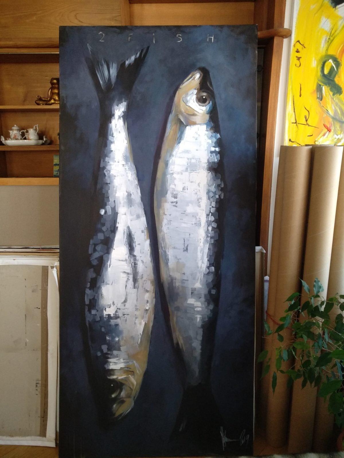 Artwork 2 Fish at artist' studio