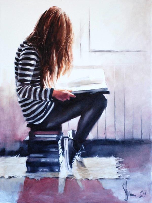Love to read original painting by Igor Shulman