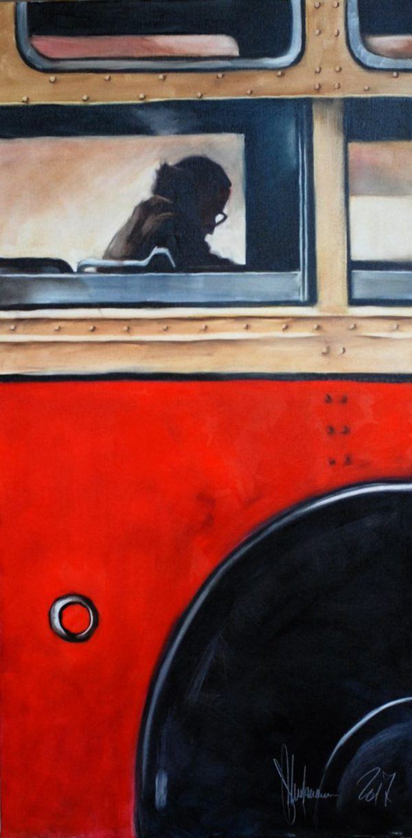 Bus from Childhood original painting by Igor Shulman
