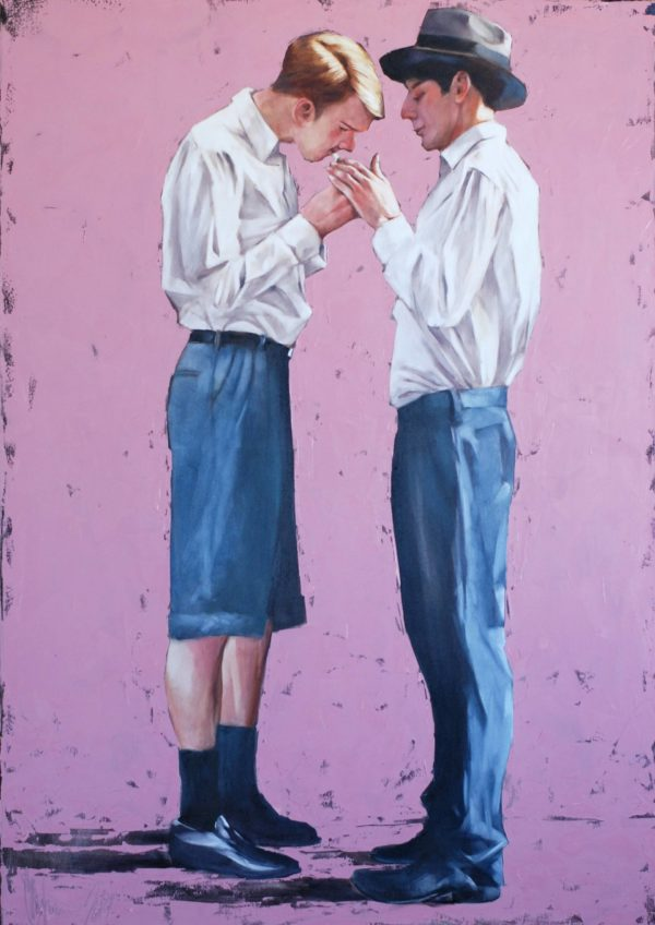 Meeting with a predictable ending original painting by Igor Shulman