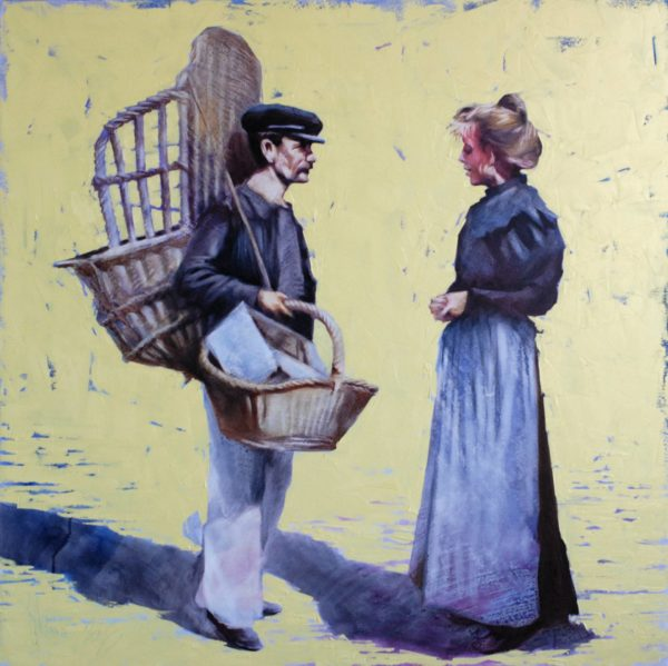Seller Baskets original painting by Igor Shulman