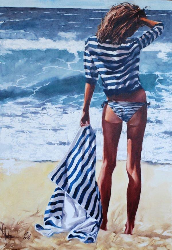 Striped Saturday original painting by Igor Shulman