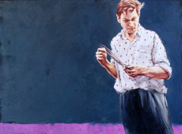 The hairdresser. Spring original painting by Igor Shulman