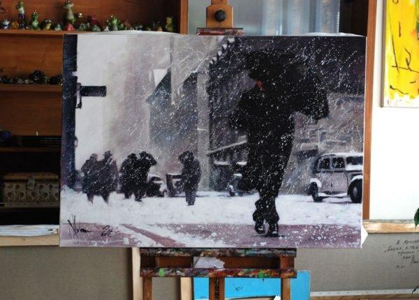 Winter. Boston artwork by Igor Shulman #artgallery