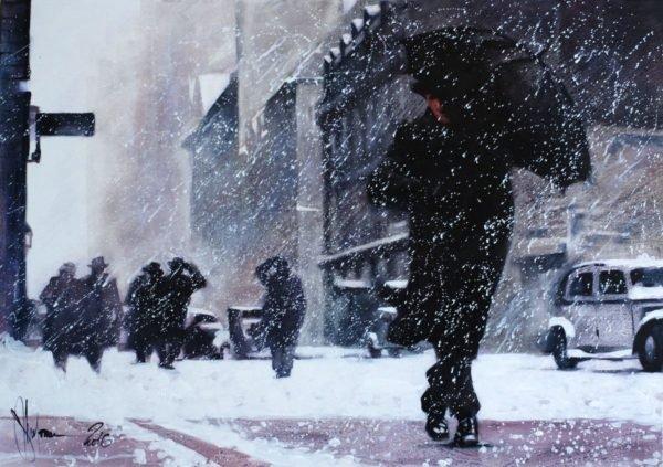 Winter. Boston original painting by Igor Shulman