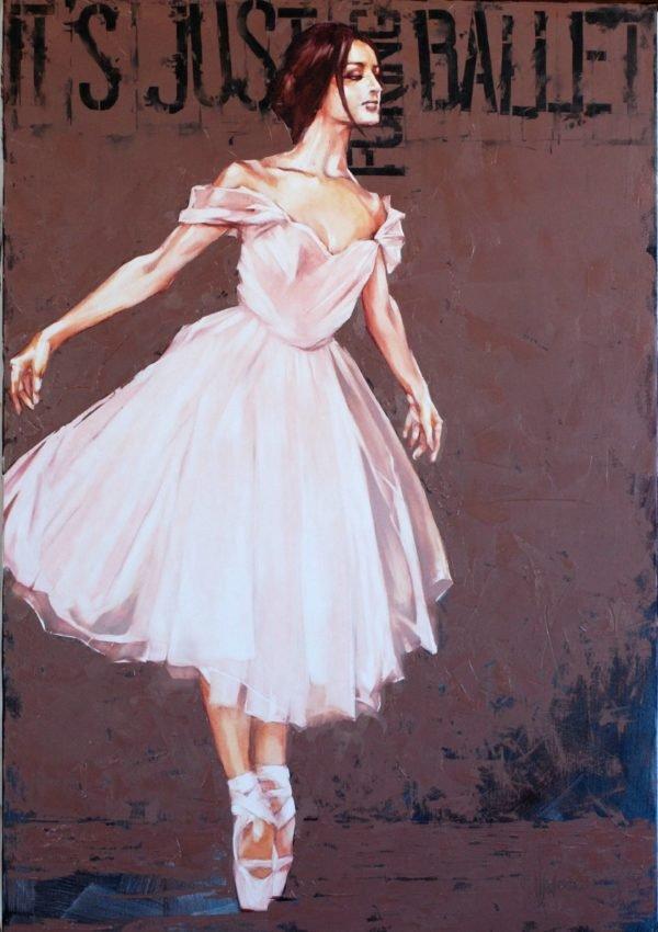 It is just Fucking Ballet original painting by Igor Shulman