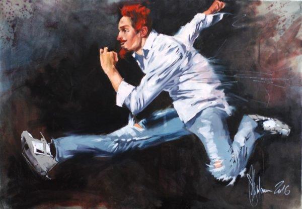 Run!!! (Energy Drink) original painting by Igor Shulman