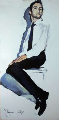 Igor Shulman Artwork / 2007 year Album / Portrait of a Clerk - 100x70 sm
