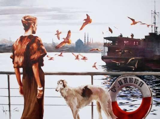 Igor Shulman Artwork / 2008 year Album / Emigration 1920 - 120x160 sm