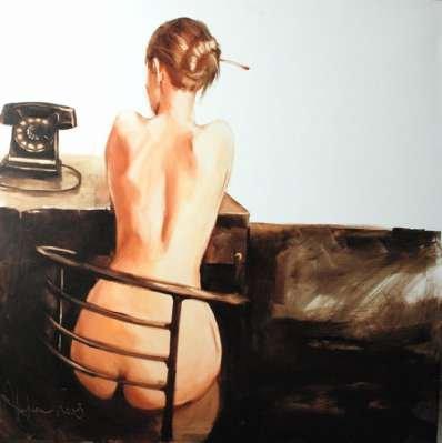 Igor Shulman Artwork / 2008 year Album / Secretary №1 - 100x100 sm