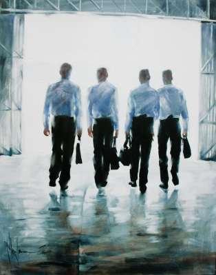 Igor Shulman Artwork / 2009 year Album / Night Walk - 80x80 sm