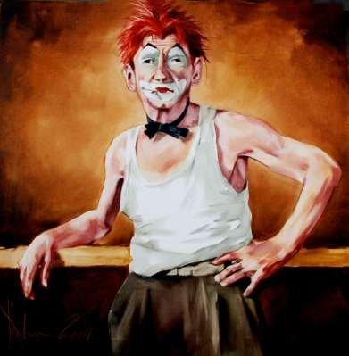 Igor Shulman Artwork / 2009 year Album / Sade Clown - 70x70 sm
