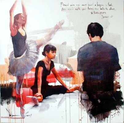 Igor Shulman Artwork / 2009 year Album / The Ballet №21 - 100x100 sm