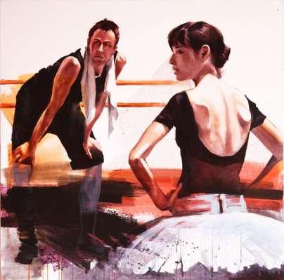 Igor Shulman Artwork / 2009 year Album / The Ballet №31 - 100x100 sm