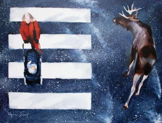 Igor Shulman Artwork / 2009 year Album / Trafic -100x100 sm