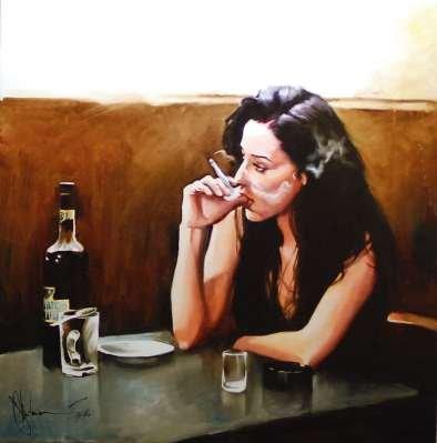 Igor Shulman Artwork / 2010 year Album / Absinthe Lovers - 90x120 sm
