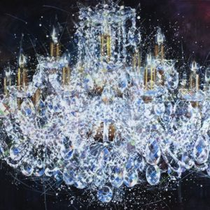 Chandelier #5. Shining original painting by Igor Shulman