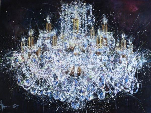 Chandelier #5. Shining original painting by Igor Shulman