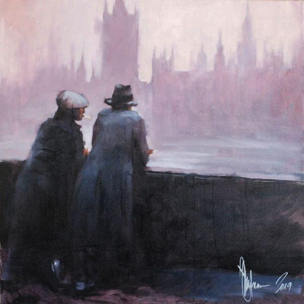 Winter. London original painting by Igor Shulman