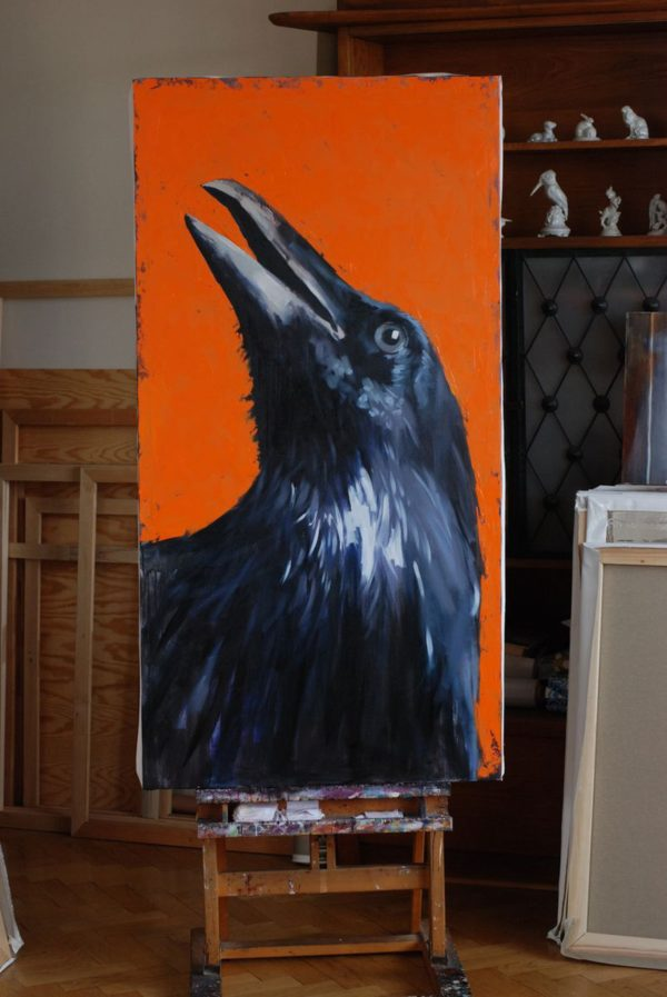 Portrait of a Crow, trying to find God in Himself 2 artwork by Igor Shulman #artist