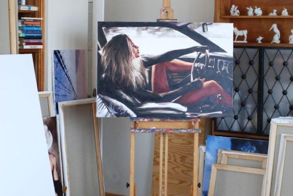 Riding without Brakes artwork by Igor Shulman #artgallery