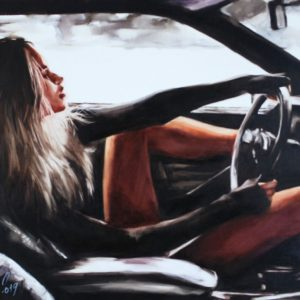Riding without Brakes original painting by Igor Shulman