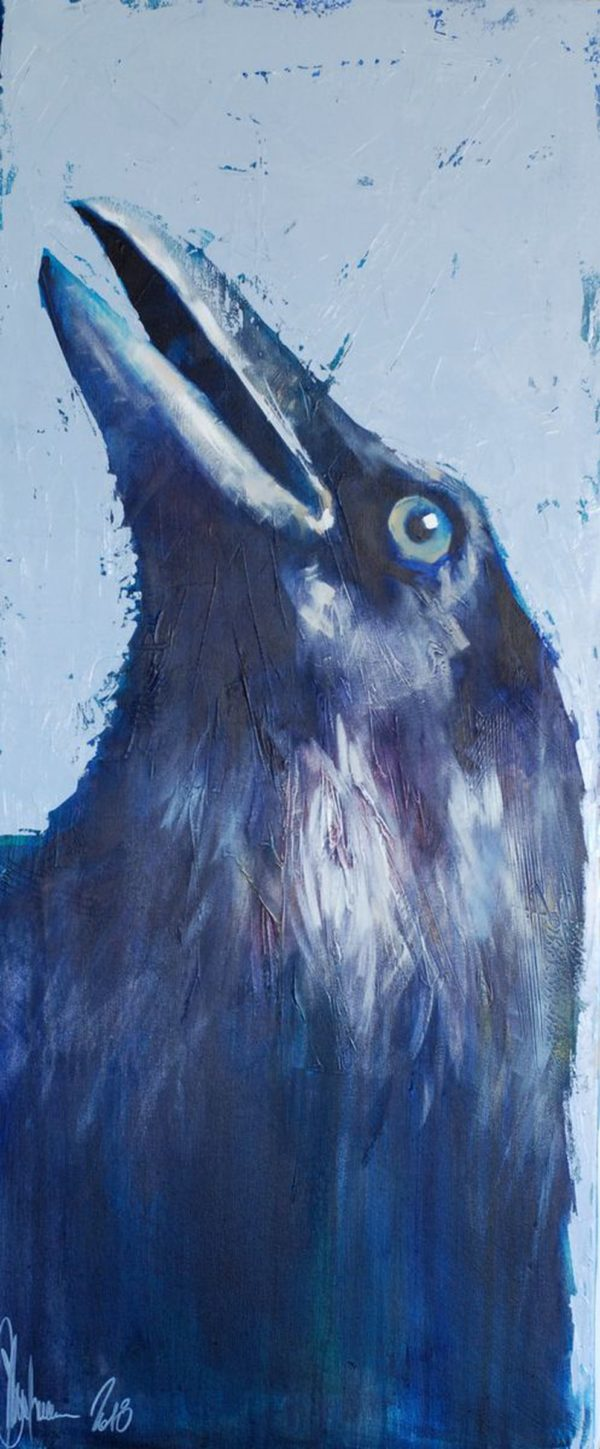 Portrait of a Crow, Trying to Find God in Himself