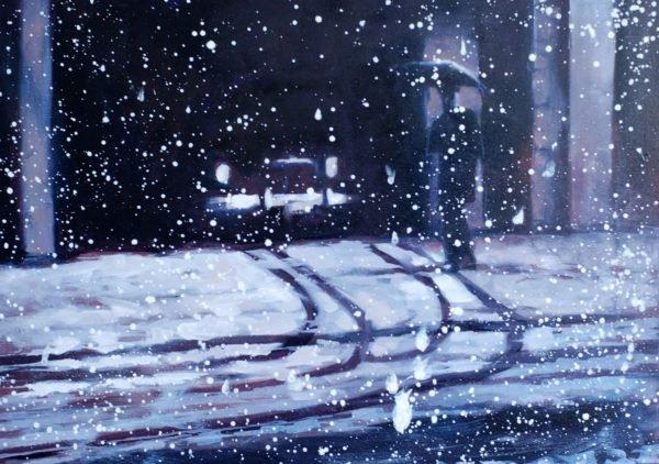 First snow. NY 1959
